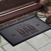 personalised World's Best Dad Lives Here Doormat