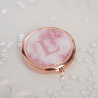 Rose Gold Initial Mirror