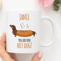 personalised one hot dog mug