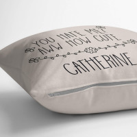 personalised You Hate Me? How Cute Cotton Cushion