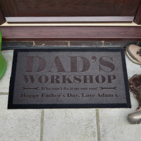 Dad's Workshop Doormat