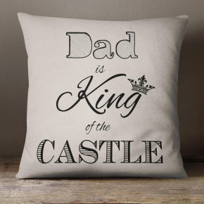 Dad King of the Castle Cotton Cushion