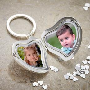 Heart Shaped Photo Keyring