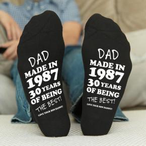 Dad Made in Year Black Socks