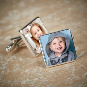 Photo Upload Cufflinks Gift Set