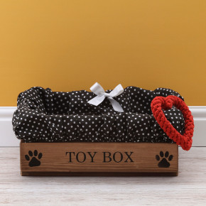 Rustic Wooden Pet Toy Box