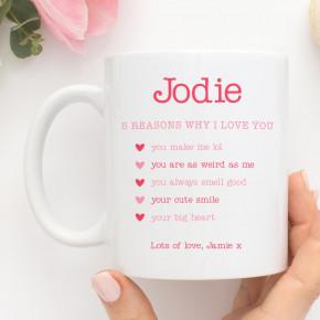 5 Reasons I Love You Mug